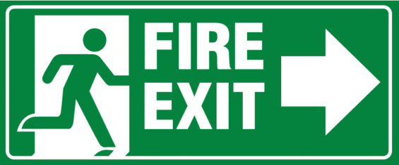Fire Exit for Evacuation