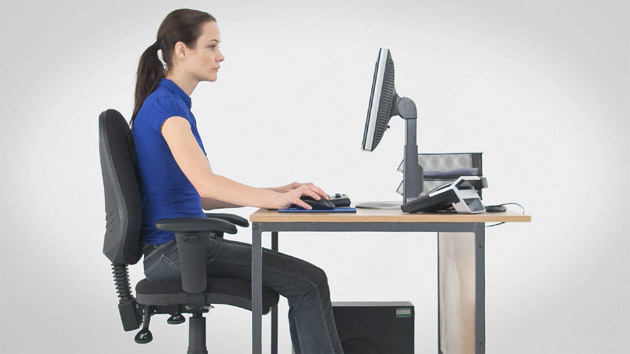 Posture when using display screen equipment